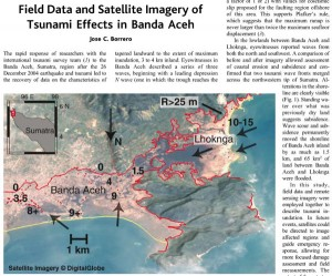 J.C. Borrero, 2005, Field Data and Satellite Imagery of Tsunami Effects in Banda Aceh, Science