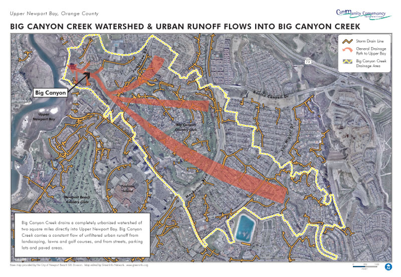 Urban Runoff Flows into Big Canyon Creek